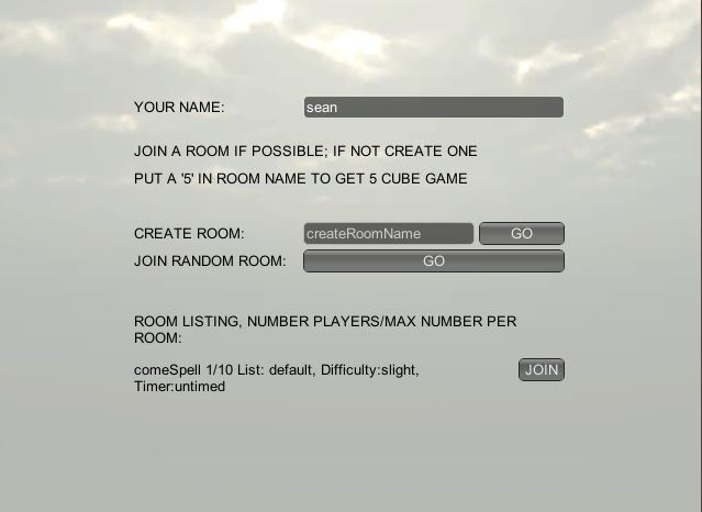 The second player joins that room.